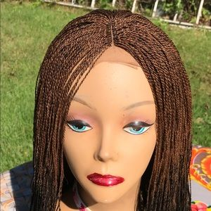 Ombré black and color 30 micro twist on a closure
